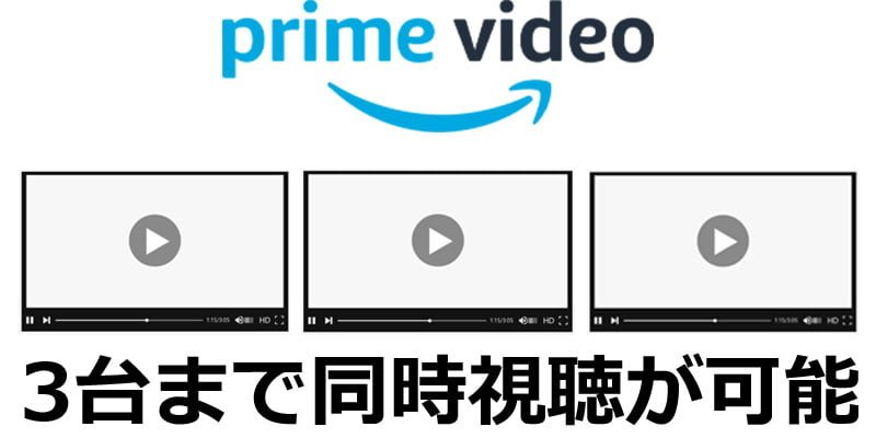 Amazonプライムビデオの同時視聴について