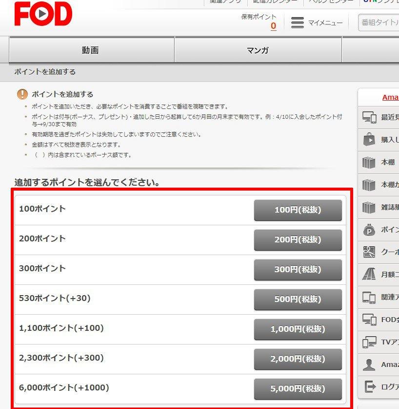 FODの購入できるポイント